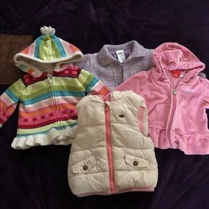 Baby girl bundle of jackets